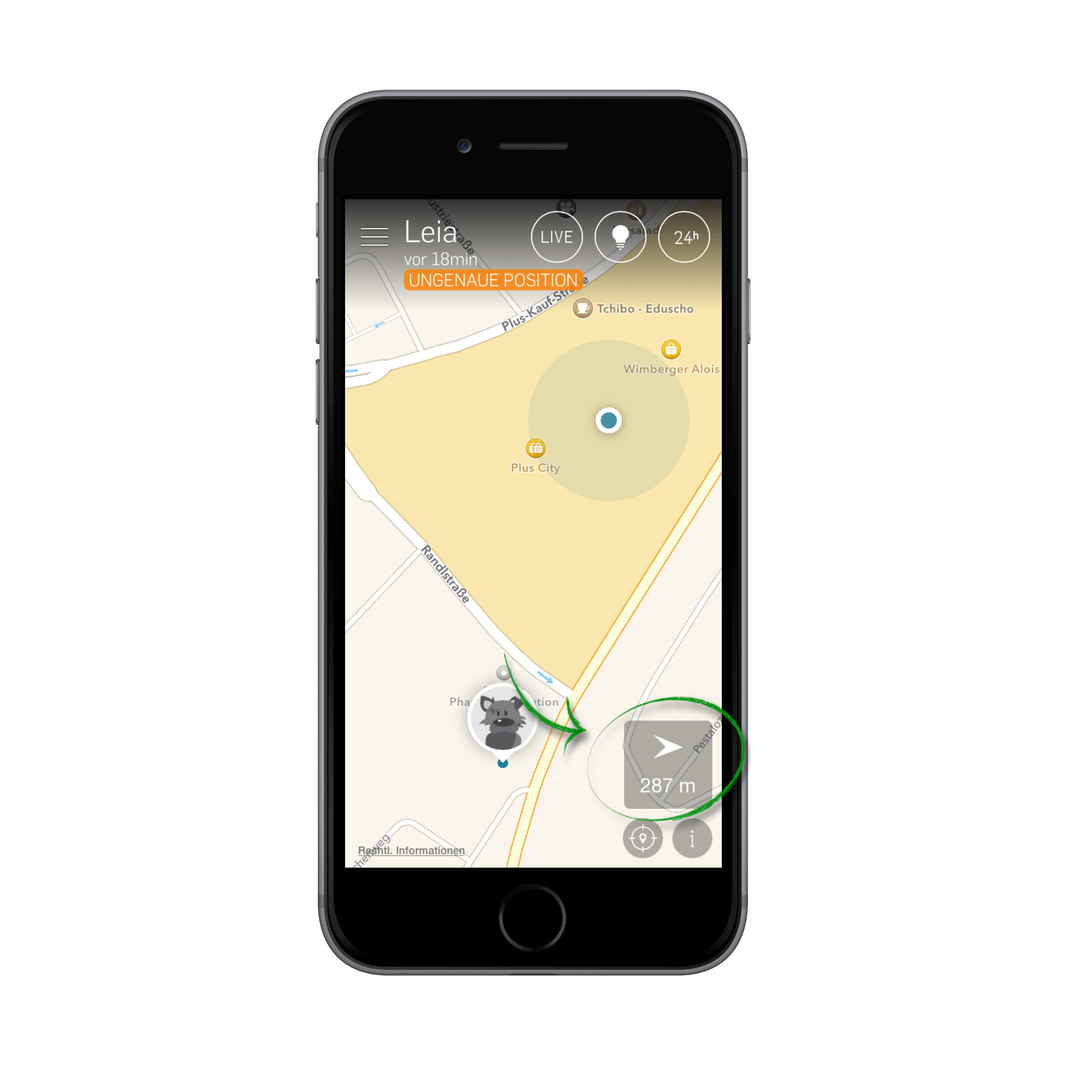 map with compass feature
