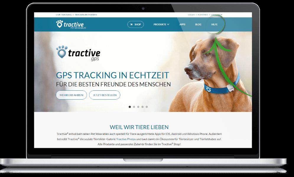 Tractive Website - Hilfe