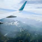 Der Ausblick bei unserem Flug im HR-Praktikum