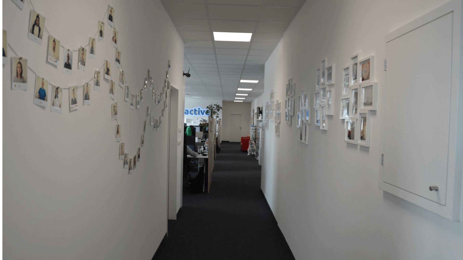 Der Eingangsbereich in unserem Büro