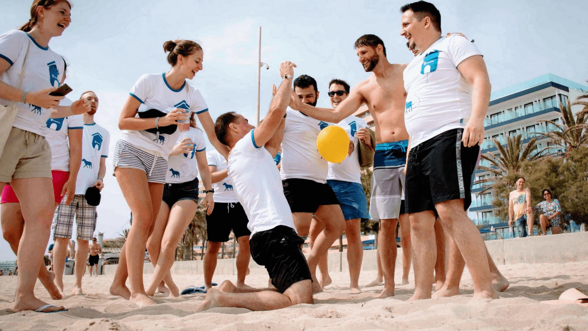 Teamsport auf Mallorca Tractive Olympiade
