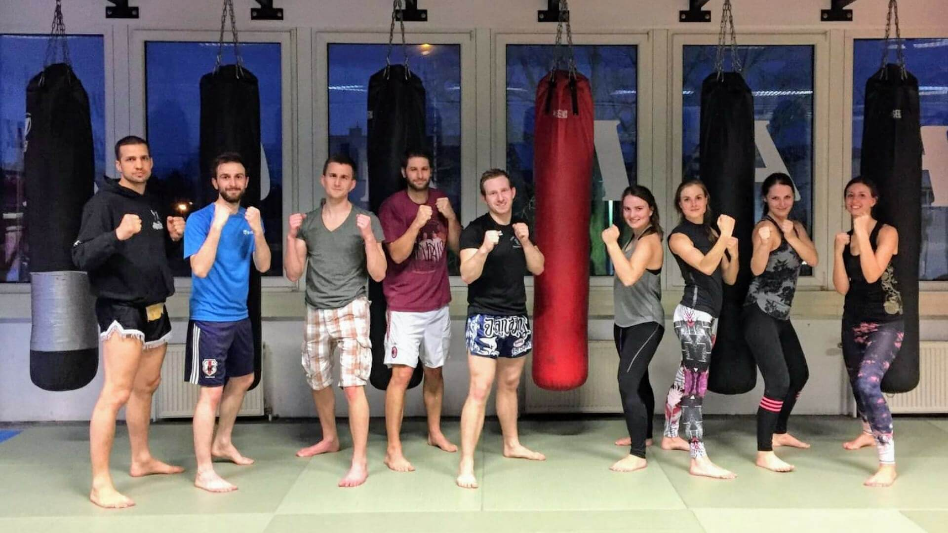 trying muay thai as tractive team sport activities