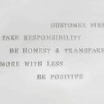 Unsere Core Values hängen an unserer Wand