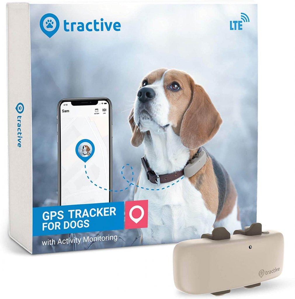 Tractive GPS Tracker für Hunde mit Verpackung